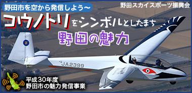 野田市を空から発信しよう ~コウノトリをシンボルとしたまち ページへ